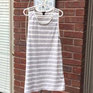 J crew striped sleeveless top
